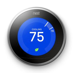 $150 (原价$249)Nest Thermostat 三代智能中央空调恒温控制器