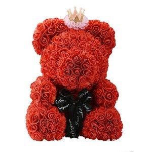 40 cm玫瑰泰迪熊 含可以拆皇冠