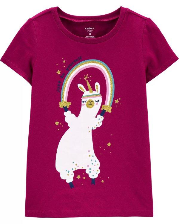 儿童羊驼T恤