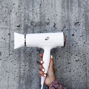 T3 - Cura Hair Dryer | Digital Ionic Professional Blow Dryer | Fast Drying, Volumizing Wide Air Flow | Frizz Smoothing | Multiple Speed and Heat Settings | Cool Shot @ Amazon