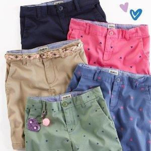 $9.97 & Up + Free ShippingUniform Shorts @ OshKosh BGosh