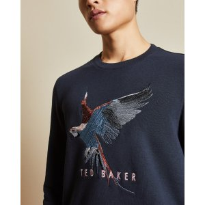 Ted BakerFLYWAY Long sleeved embroidered sweatshirt