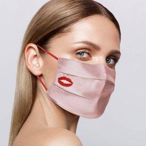 """7.5折 折后仅€34上新:SLIP 推出可重复使用蚕丝口罩 再也不怕闷出""""口罩脸"""""""