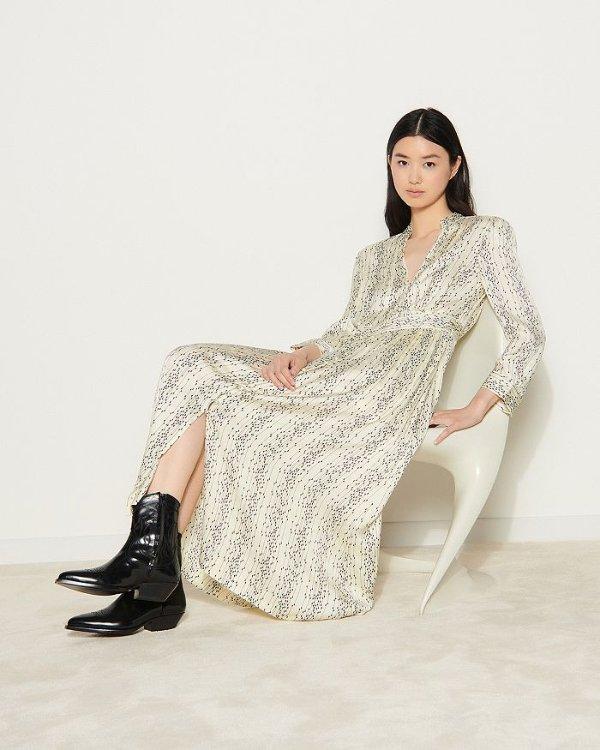 Shira Long Printed 连衣裙