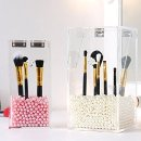 $26 PuTwo Makeup Brush Holder Dustproof Storage Box Premium Quality 5mm Thick Acrylic Makeup Organizer