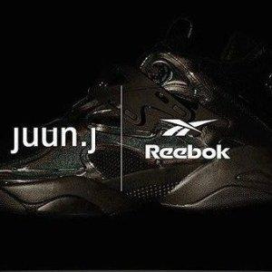 低至5折 黑色镭射款$150Reebok x Juun.J 韩国设计师联名款 Pump Court 三色选