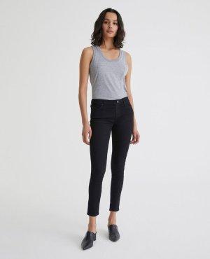 The Legging Ankle in Overdye Black   AG Jeans Official Store