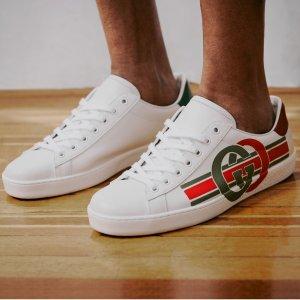 仅$399.99(原价$790)史低价:Gucci 新款双色尾小白鞋 变相5折