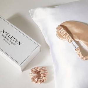 低至4折N°· ELEVEN 真丝枕套、眼罩、发圈 变身睡美人