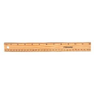 $0.25白菜价:Fiskars 12英寸木质尺子