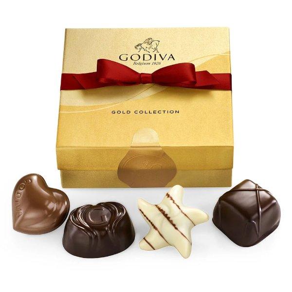 金装巧克力4颗装礼盒