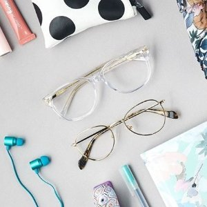 低至2.5折+买一送一Clearly 框架镜热卖 时尚造型眼镜 镜片档飞沫复工更安心