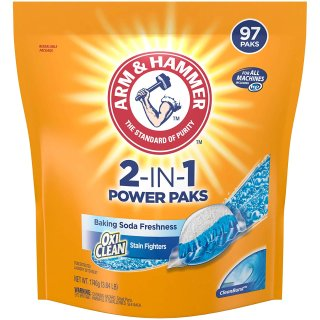 $7.86Arm & Hammer 2-IN-1 Laundry Detergent Power Paks, 97 Count