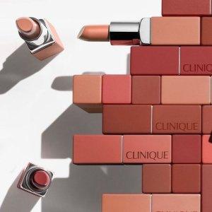 任意单正装唇膏(价值$26)最后一天:Clinique 超值彩妆8件套$33(价值$230)、清洁2号水$24