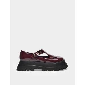 Burberry玛丽珍厚底鞋