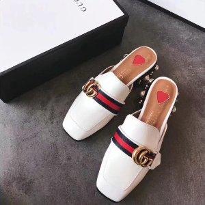 Gucci变相8折!官网定价$1005双G穆勒鞋