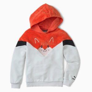 Puma儿童小狐狸帽衫