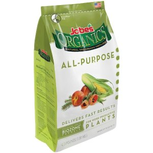 Jobe's Organics Organic All Purpose Plant Food Fertilizer 4-4-4, 4 lb.