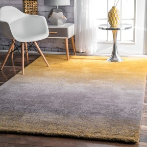 HouzznuLOOM Coastal Hand Tufted Ombre Shag Area Rug - Contemporary - Area Rugs - by nuLOOM