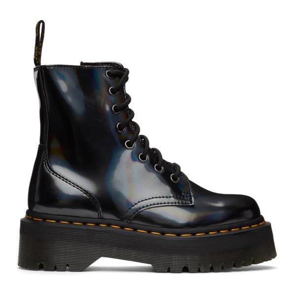 厚底及踝马丁靴