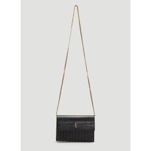 Saint LaurentSunset Wallet Bag in Black