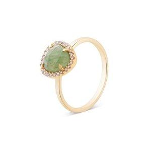 Argento绿宝石戒指