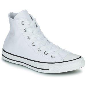 Converse仅剩38/41码经典白色高帮帆布鞋