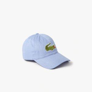 LacosteMen's Contrast Strap And Oversized Crocodile Cotton Cap