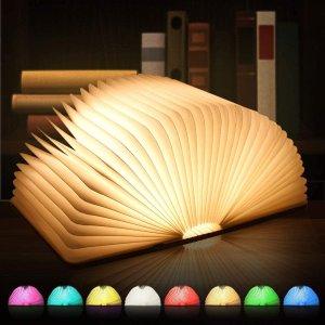 优惠价€17.09起PAIPU 书本型氛围灯 8种颜色可调 为生活加点料