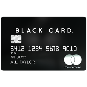 Black PVD metal cardMastercard® Black Card