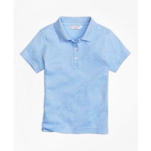 Girls' Light Blue Short-Sleeve Polo Shirt | Brooks Brothers