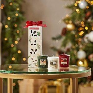 3个仅€6.16 收圣诞超值套装Yankee 香薰蜡烛套装 提升居家幸福感 送人自用都可以