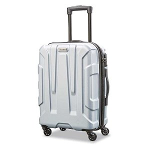 SamsoniteCentric Expandable Hardside Carry On Luggage with Spinner Wheels, 20 Inch, Silver
