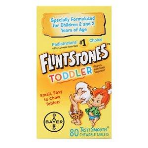 $6.79 儿科医生推荐品牌Flintstones 儿童咀嚼复合维生素,80粒