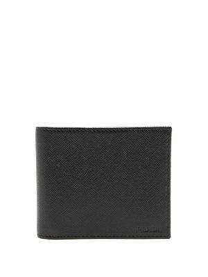 Prada Bi-fold saffiano-leather wallet