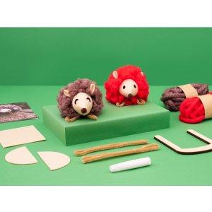kiwicoPom-Pom Hedgehogs Ages 5-8