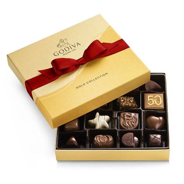 金装巧克力19颗礼盒