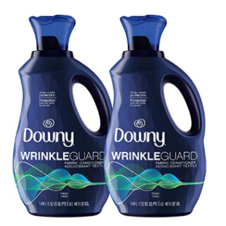 Downy Wrinkleguard Liquid Fabric Softener and Conditioner  2 Pack of 48 fl oz. Wrinkle Guard Bottles