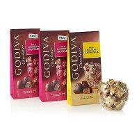 Godiva 牛奶/焦糖松露巧克力混合装 大包装 3袋