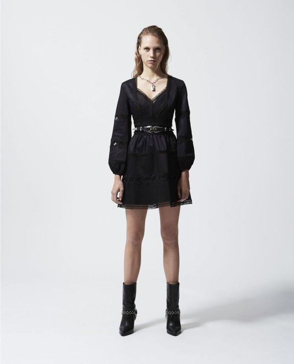 长袖蕾丝裙