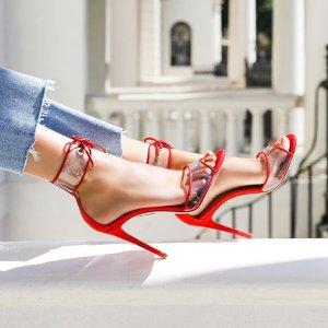 低至4折Aquazzura 精选美鞋促销 绑带平底$358