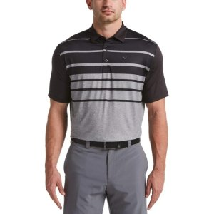 Mens Printed Engineered Stripe Polo