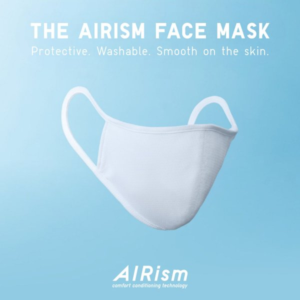 AIRism自由呼吸3层防菌口罩