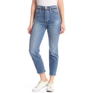 Frame DenimStraight Leg High Rise Jeans