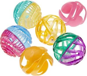 All Kind Paw & Play Let's Roll Plastic Ball Cat Toy, 6-Pack - Chewy.com