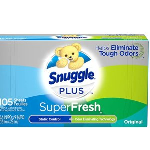 Snuggle Plus Super Fresh Fabric Softener Dryer 105 Count