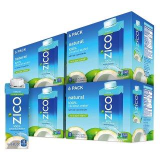 史低价$18.90 一瓶仅$0.78闪购:ZICO 高级椰子水 8.45盎司 24瓶
