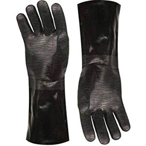 "Amazon.com : Best Insulated BBQ Pit Gloves * 14"" Length for Outdoor Barbecue, Cooking and Frying! * Designed For the Pit Master To Use With Your Turkey Fryer, BBQ, Smoker & For All Your Cooking and Food Handling. Heavy Duty Heat Resistant TEXTURED Neoprene. : Garden & Outdoor"