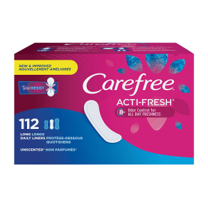 Carefree Acti-Fresh Body Shaped Panty Liners, 112 Count