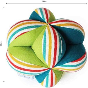 Shumee Colorful Clutch Ball for Babies (Age 0+) - Sensory and Fine Motor Skills